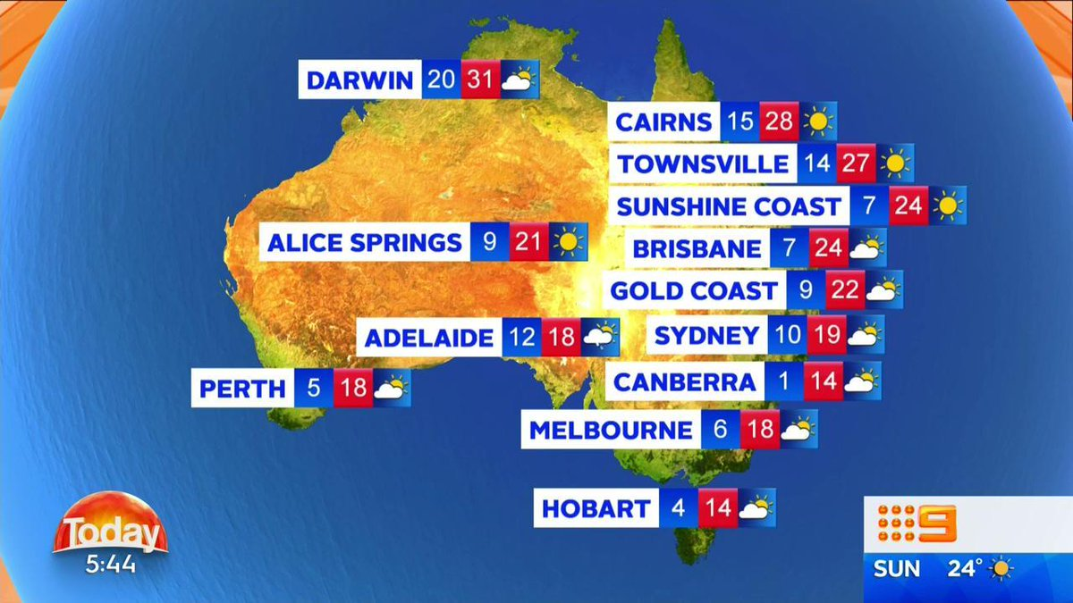 Today National Weather Map.Weather Here Is Your National Weather Forecast For Today 9news