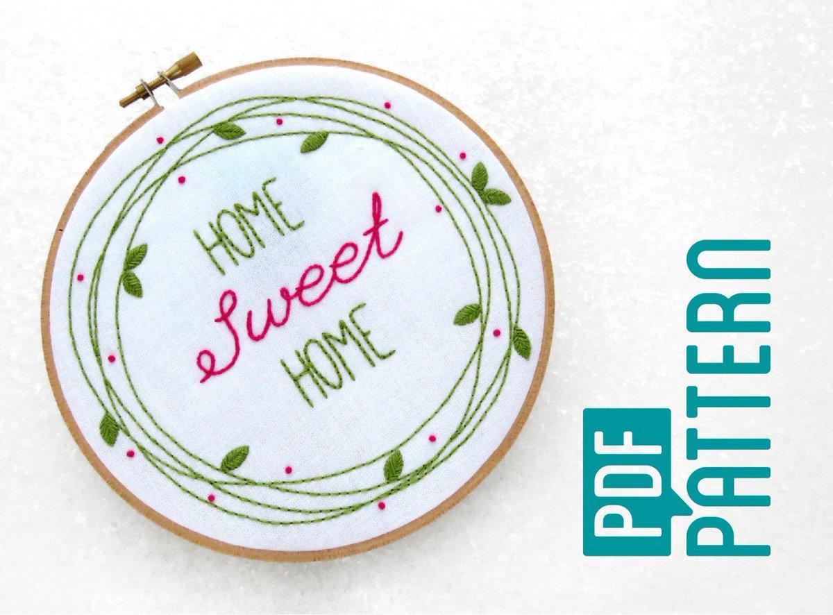 Oh Sew Bootiful On Twitter Easy Hoop Art Pattern Pdf Leaves