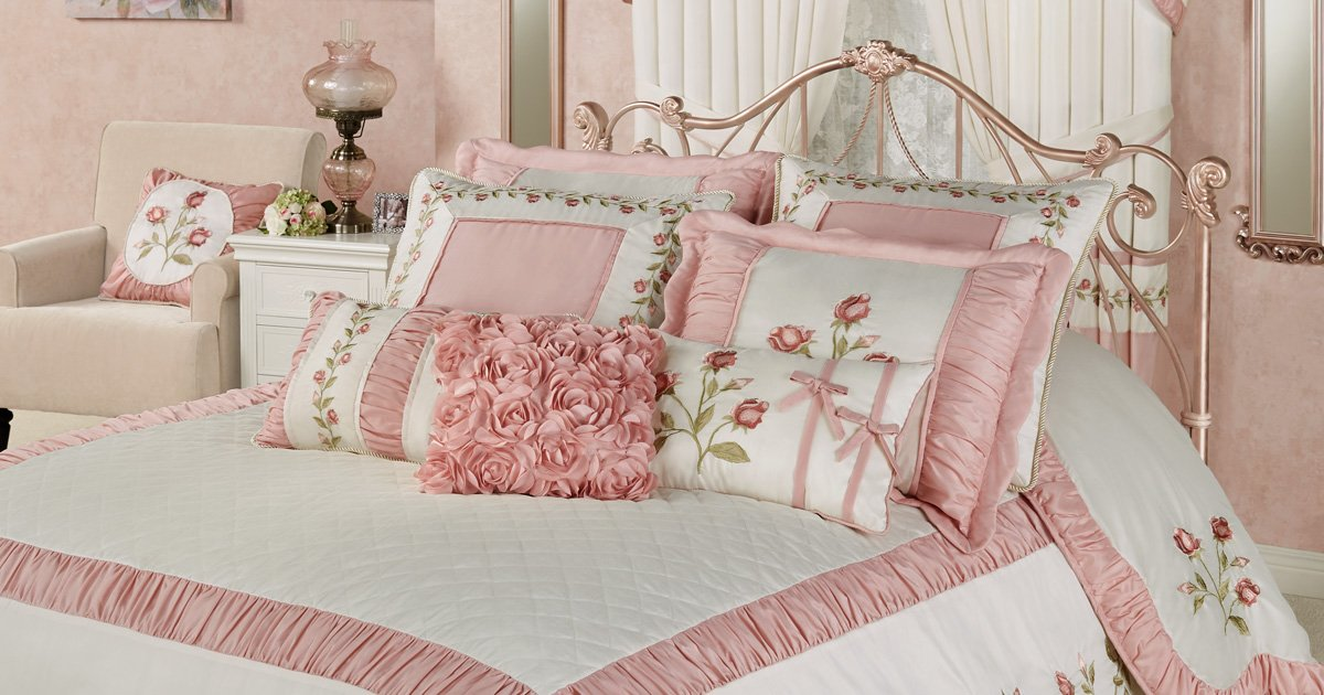 get the look and explore all the coordinating blush rose and bridal rose collections here httpsbitly2w57xlf only at touch of class - Touch Of Class Bedding