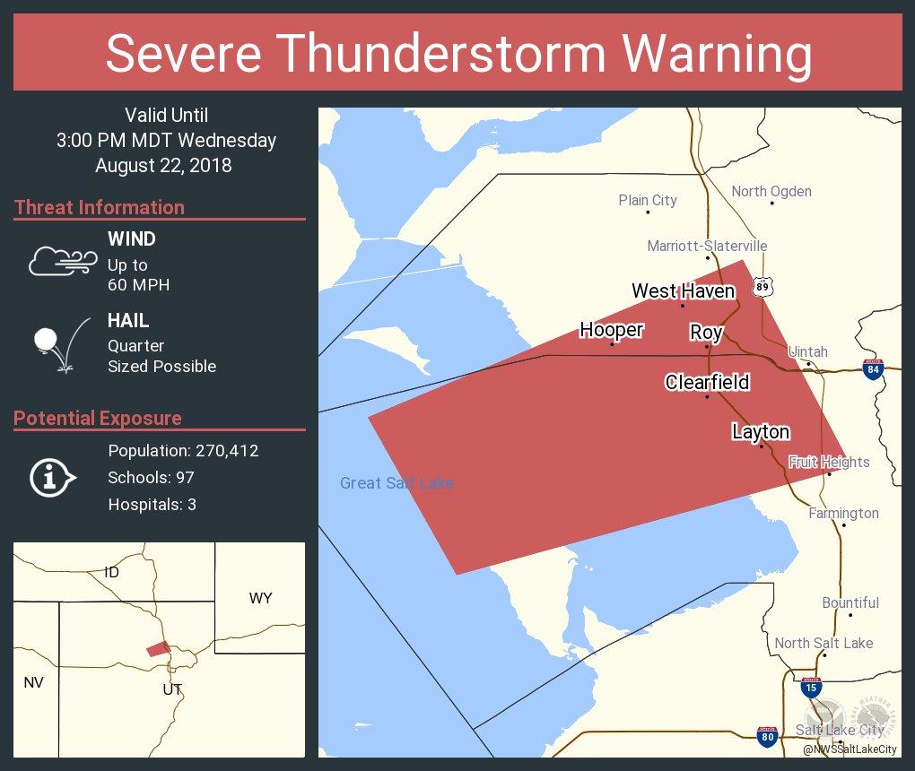 Nws Salt Lake City On Twitter Severe Thunderstorm Warning