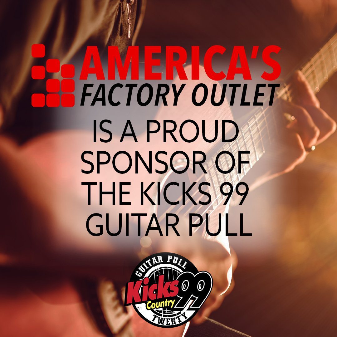 Ad KICKS 99 Guitar Pull Is Back This Year And Americas Factory Outlets Excited To Be A Sponsor Of The 20th Bitly 2Pr83Fd