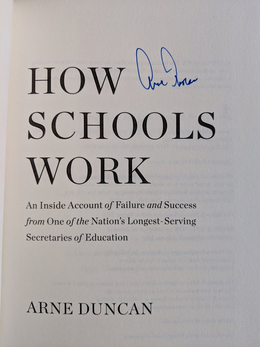 "marvin chow on Twitter: ""Amazing hearing from @arneduncan about disruption  in education, his new book ""How Schools Work"" and playing basketball with  Obama."