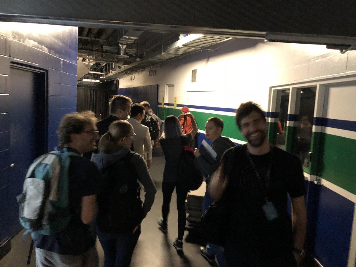 Team heading backstage now.