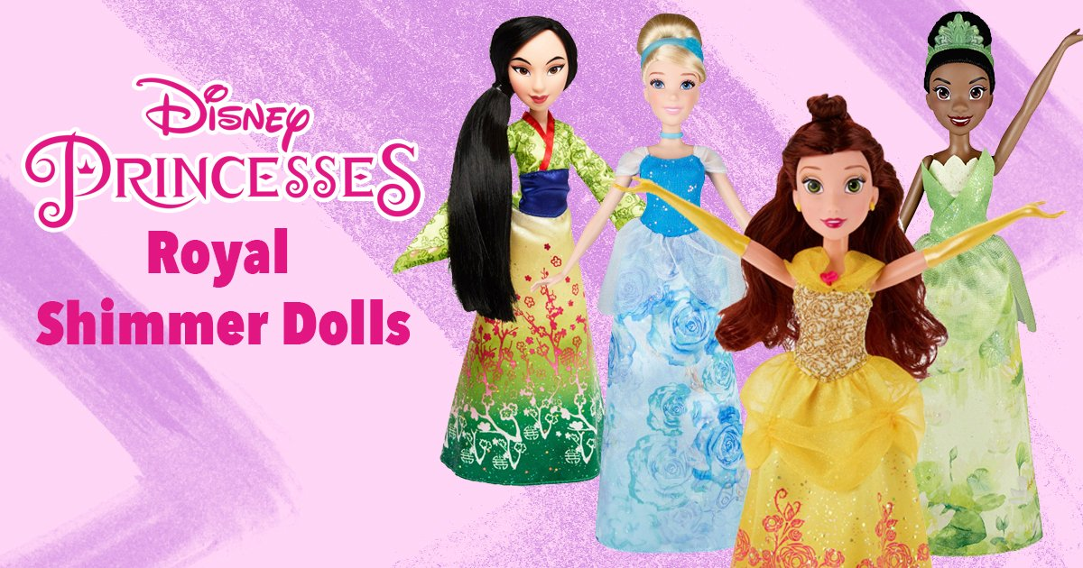 ordinary Disney Princess Signature Colors Part - 12: ... Disney Princess Royal Shimmer Dolls from @HasbroNews!! Each doll is  perfectly groomed wearing a beautiful shimmering outfit in their signature  colors!