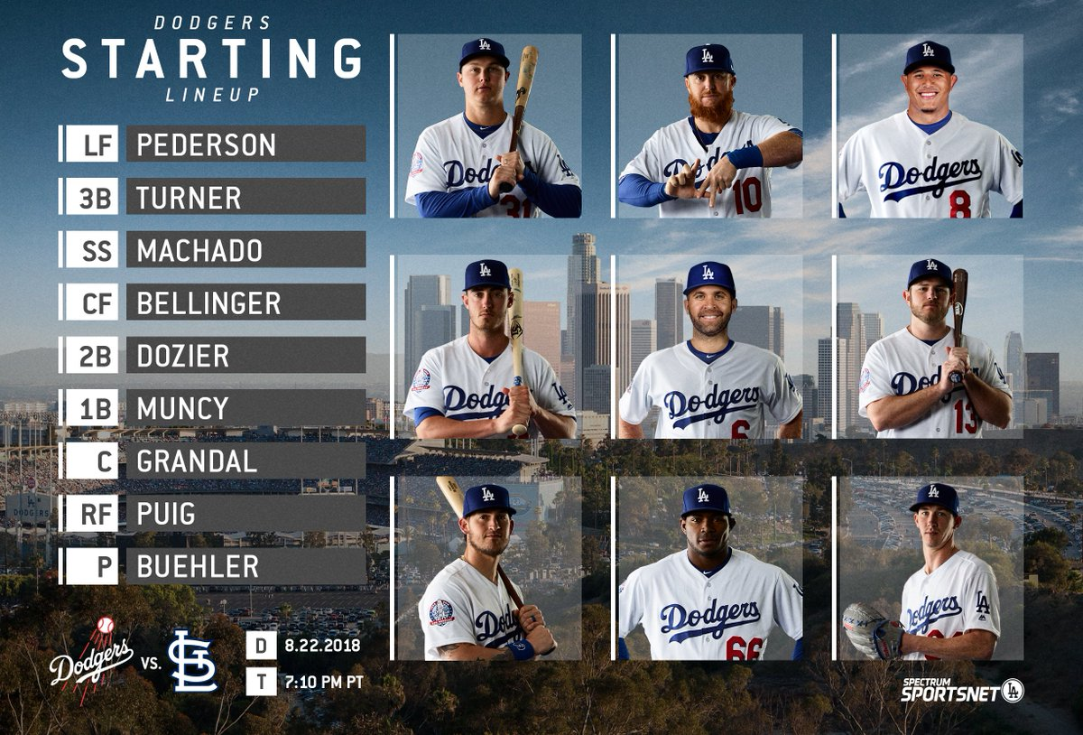 Tonight's #Dodgers lineup for the series finale vs. the Cardinals: <br>http://pic.twitter.com/WSwgeLbmBR