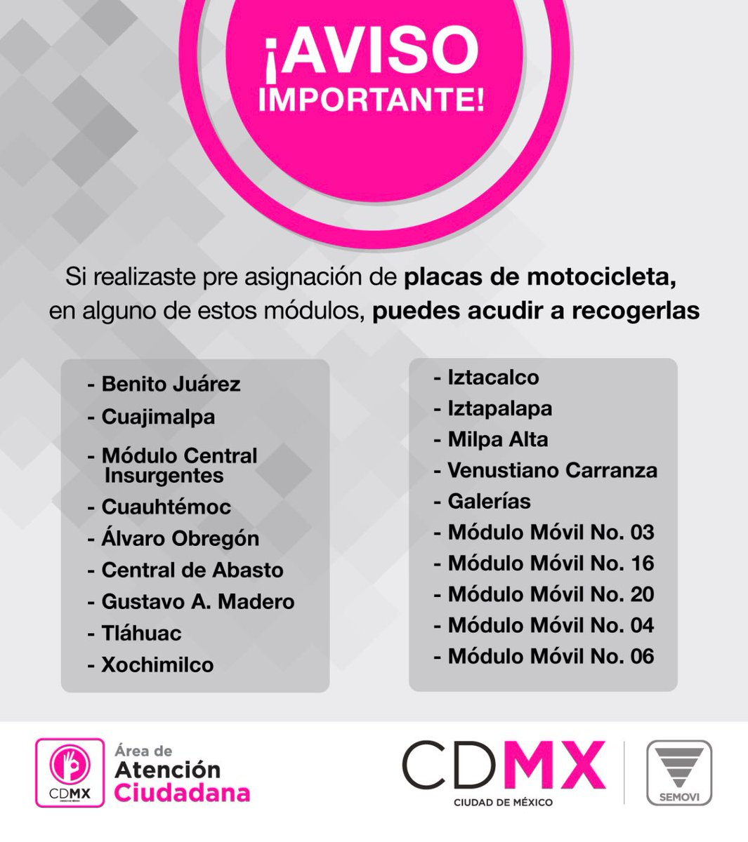 Secretaría De Movilidad Cdmx On Twitter Semoviinforma