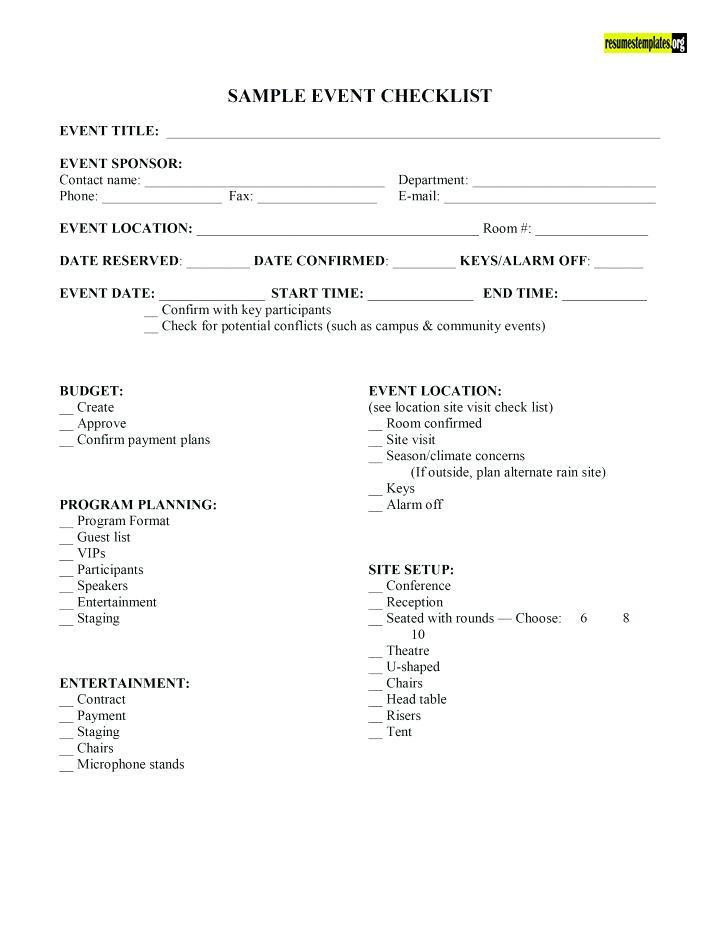 Resume Templates On Twitter Event Coordinator Contract Template