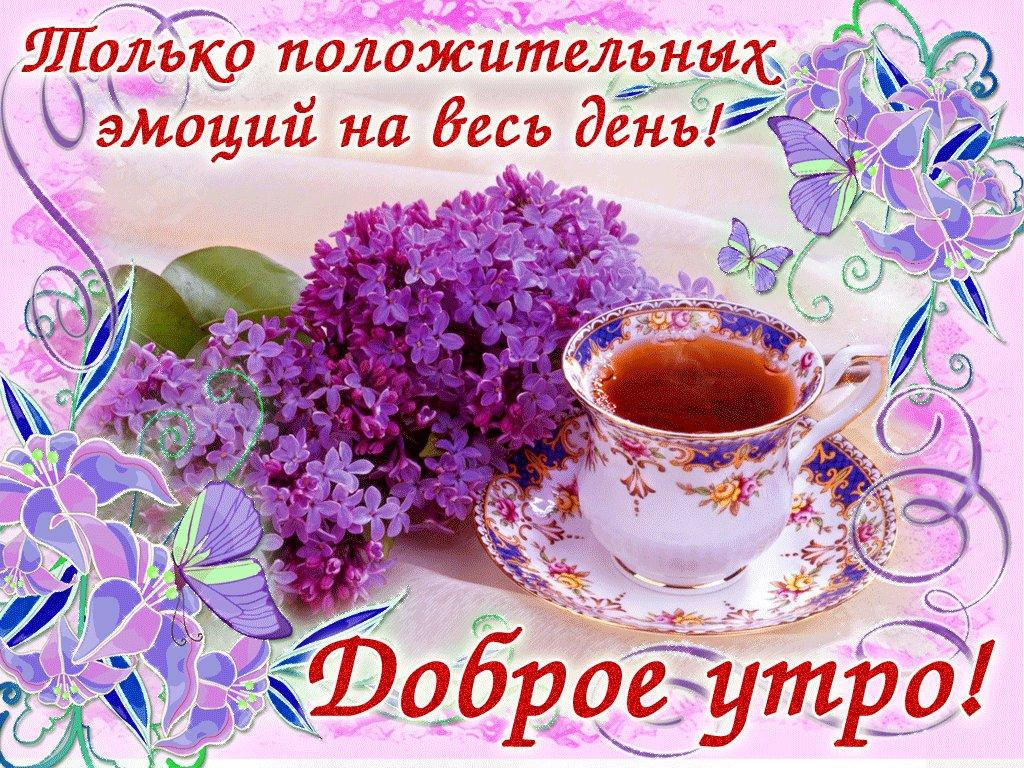 Доброе утро хорошего дня в картинках или гифках