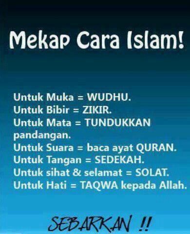 (Mekap Cara Islam) Retweet Biar Semua Orang Tahu. https://t.co/V4MnJcbHCn