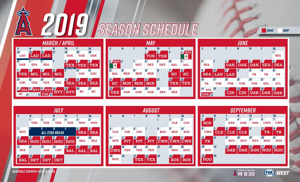 La Angels Schedule 2019 Angels PR on Twitter: