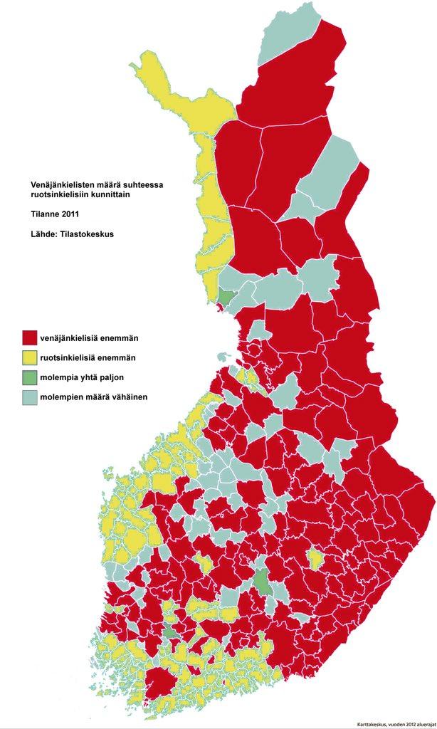 Ruotsinkielisten Osuus Suomessa