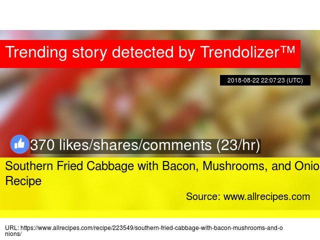 Southern Fried Cabbage with Bacon, Mushrooms, and Onions Recipe https://t.co/PotpASg8j1 https://t.co/ihRFdioLqI