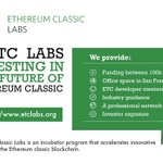 Image for the Tweet beginning: Ethereum Classic Labs @etclabs will