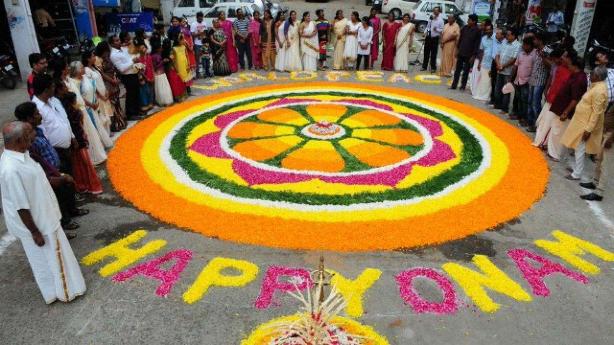 Newsfolo On Twitter Happy Onam Wishes 2018 Pookalam 2018 Onam