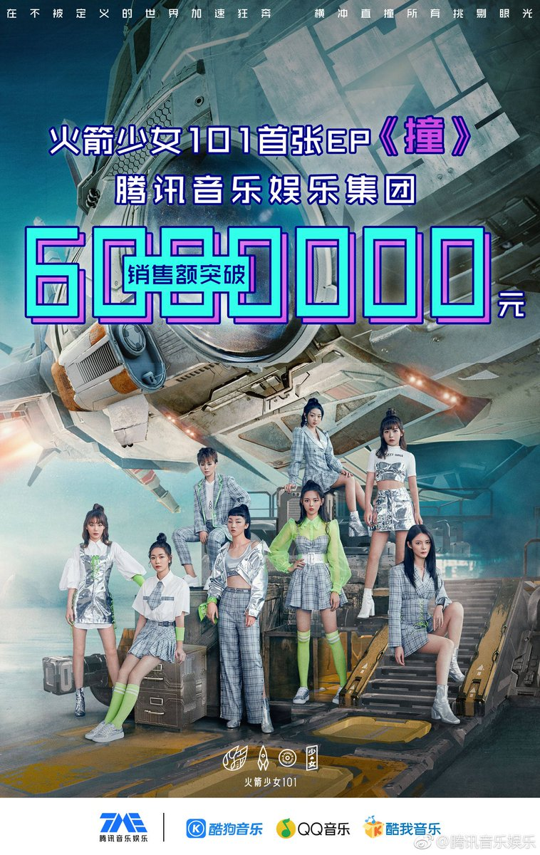 On Twitter Update 180830 Rocket Girls 101 Have Earned 10 Million Yuan With Their Debut Ep 撞 Collide On Qq Music They Are Fastest And Only Song This Year To