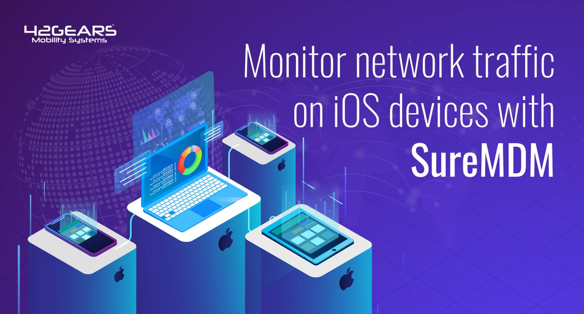 Create custom reports on network traffic for iOS devices