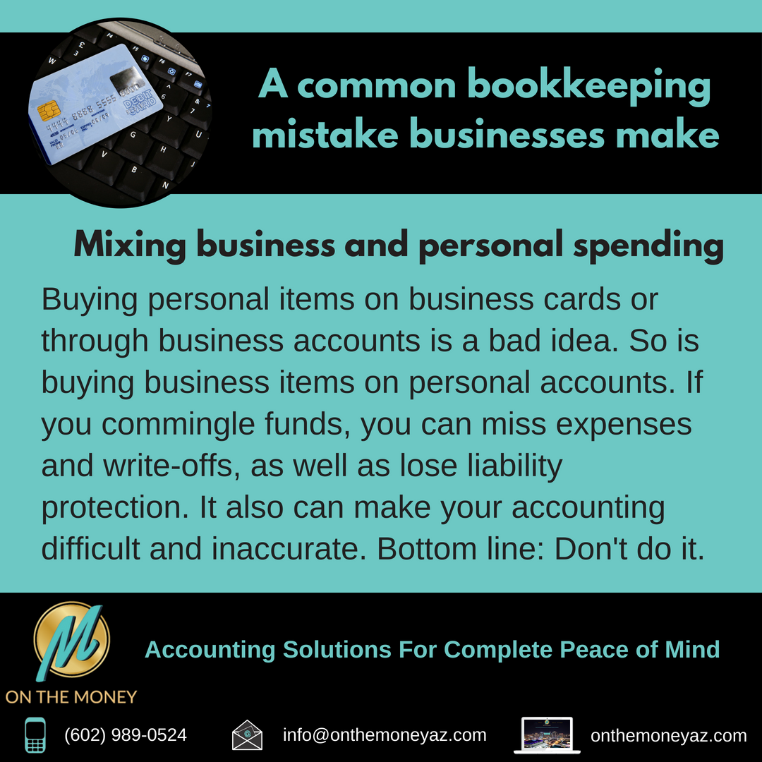 thursdaytip dont mix business and personal spending accounting bookkeeping onthemoney smallbusiness bookkeepingmistake businessowner