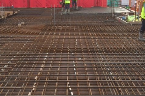 Concrete Pumped To The 2nd Floor Slab