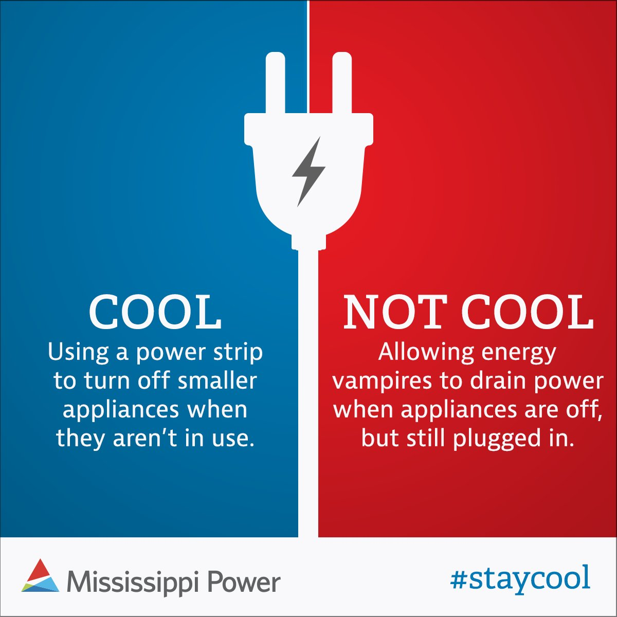 Mississippi Power On Twitter Want An Easy Way To Save Energy Use Turn Off Unplug A Strip As Central For Your Electronics Or Simply Devices When Not In You Can Up 100 Per Year