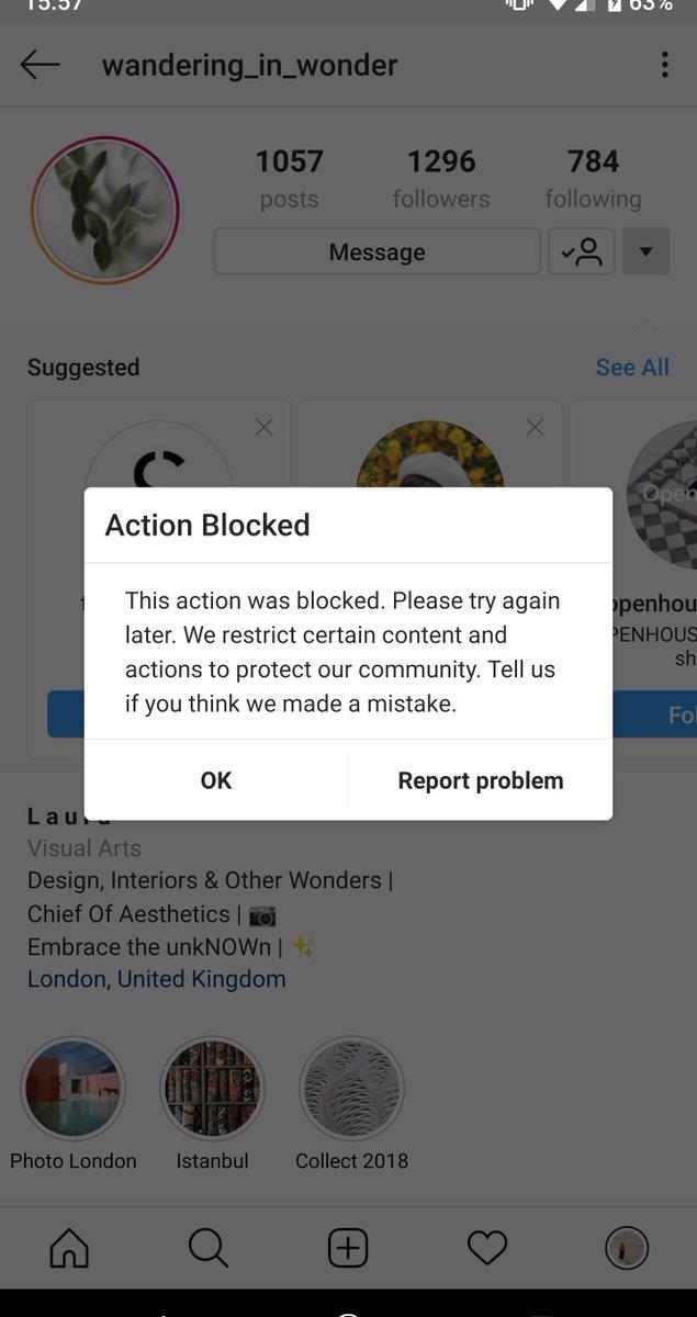 Action Blocked Instagram Follow 2018 | Instagram Free