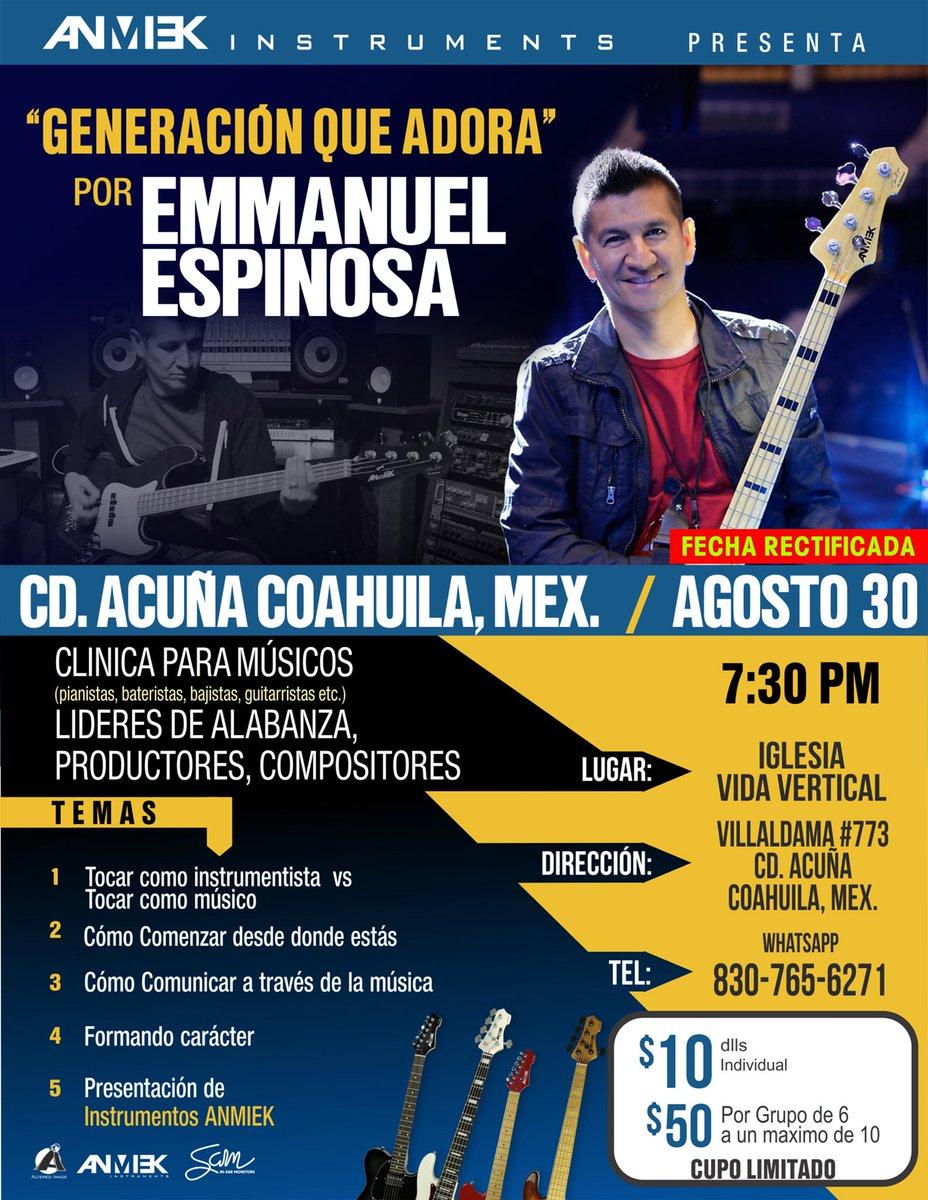 """""""Generación que Adora"""" en Ciudad Acuña este 30 de Agosto en Iglesia Vida Vertical. ¡No faltes!"""