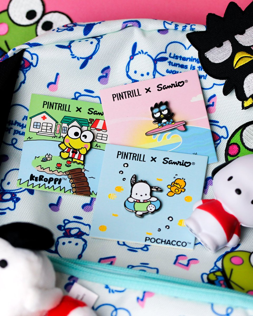 Hooray! @PINTRILL x #Sanrio is back, this time with your pals #Keroppi, #BadtzMaru, and #Pochacco! Visit sanr.io/pintrillxsanrio to shop now!