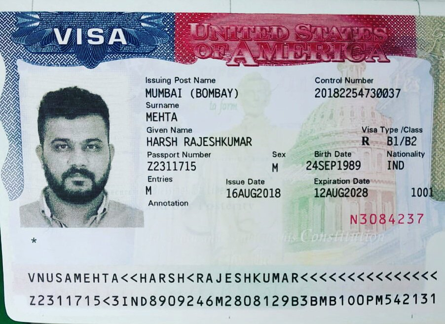 A typical US B1 Visa. Courtesy: Twitter