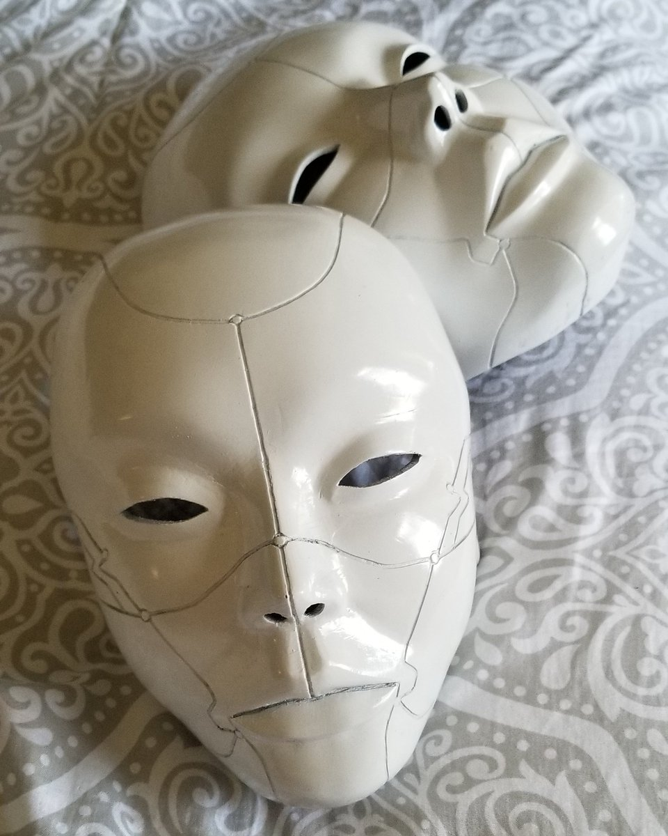 Sayayohn On Twitter Coming Soon To Lustersworkshop Ghost In The Shell Geisha Mask These Were Specialty Made For A Couple Attending The Burning Man So They Didnt Want Them Painted In A