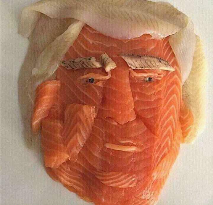 Berlaymonster On Twitter Salmon Sushi Looks Like Donald Trump That Is All Carry On