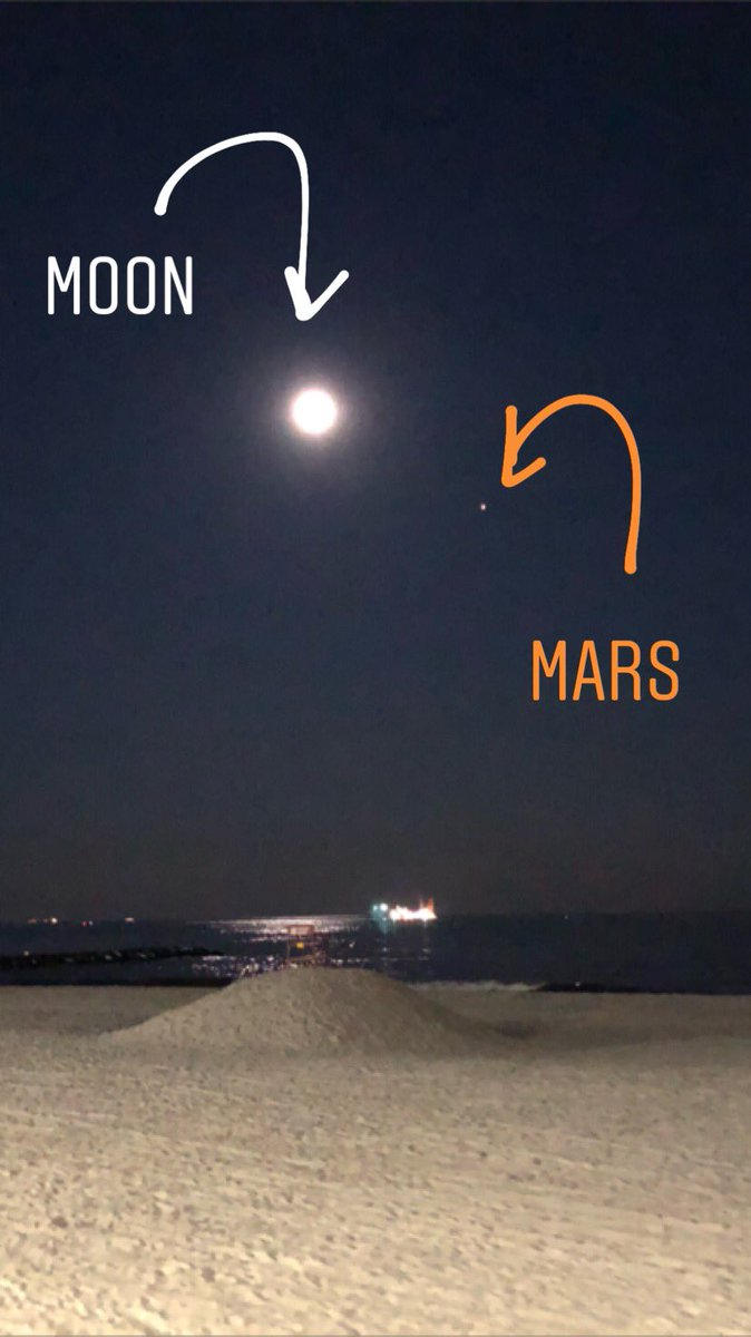 samantha augeri on twitter the moon and mars in the south sky