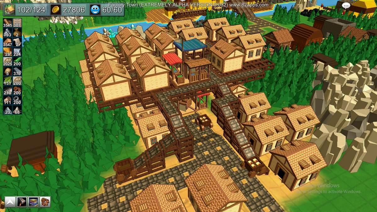 """Factory Town on Twitter: """"Players discovered a glitch that you can place  buildings on stackable scaffolds, and now they're building villages in the  sky… ..."""