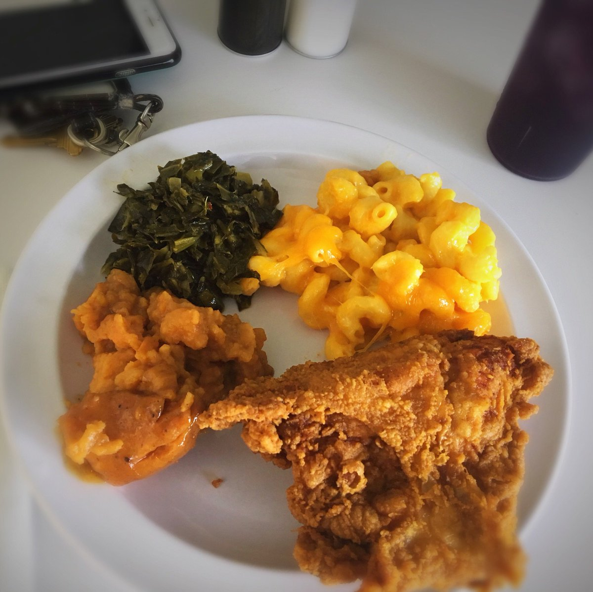 On a lighter note, it was the first #FriedChickenThursday of the new semester. 😊😋💚💛