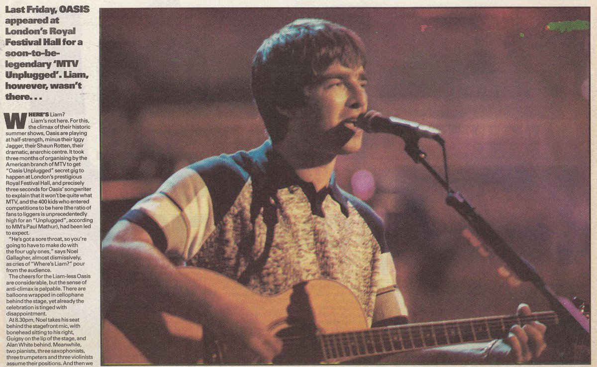 """Latest Oasis News on Twitter: """"Scans from the Melody Maker about ..."""
