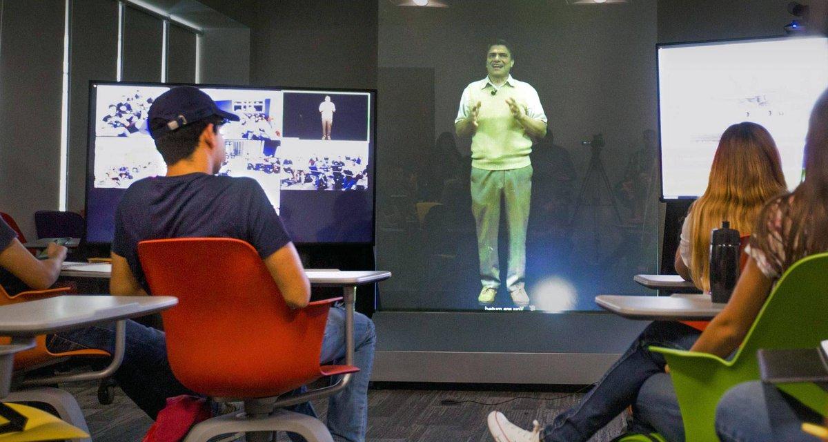 """holograma en clase del Tec de Monterrey """"Mi profesor es un holograma""""; da Tec primer clase al estilo Star Wars"""