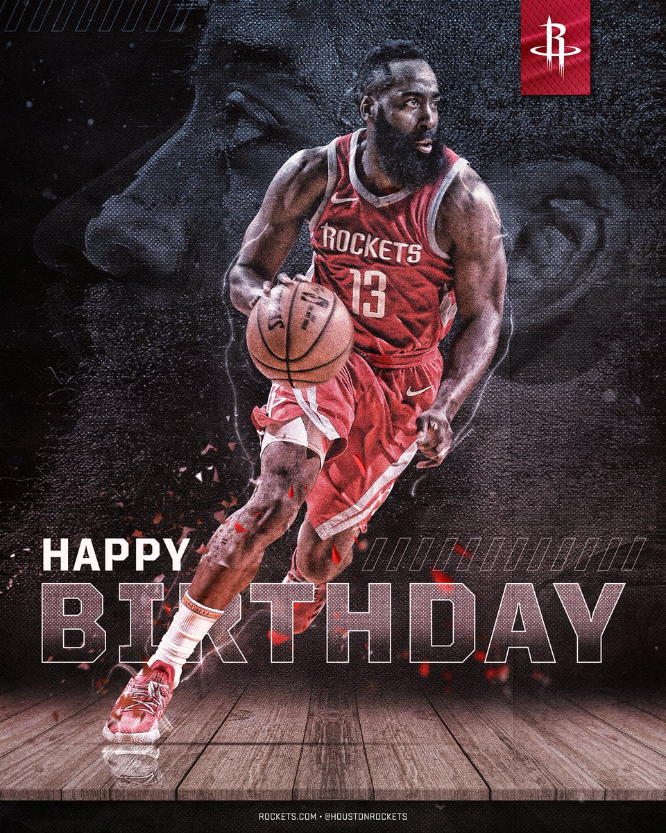 RT to wish the MVP @JHarden13 a Happy Birthday! 🎂 🚀