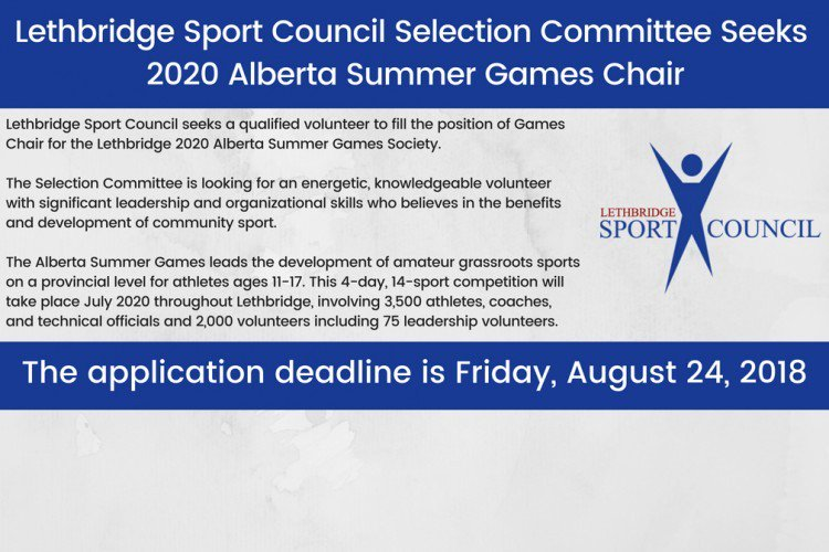 Ow Summer Games 2020.Lethbridge Sport S Tweet The Deadline To Apply To Be