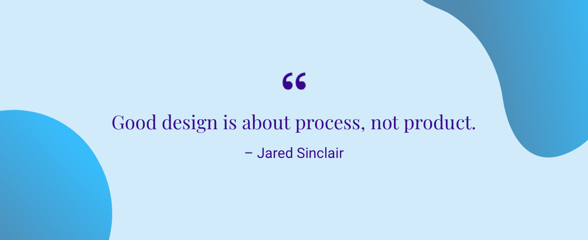 "springboard on ""good design is about process not"