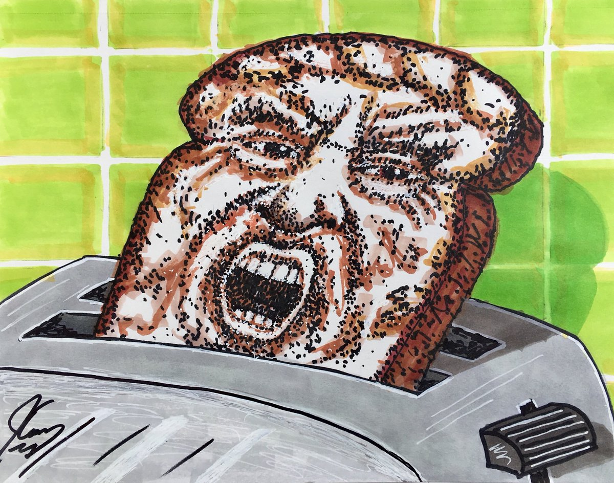 Jim Carrey political drawing depicts Trump as a piece of burnt toast