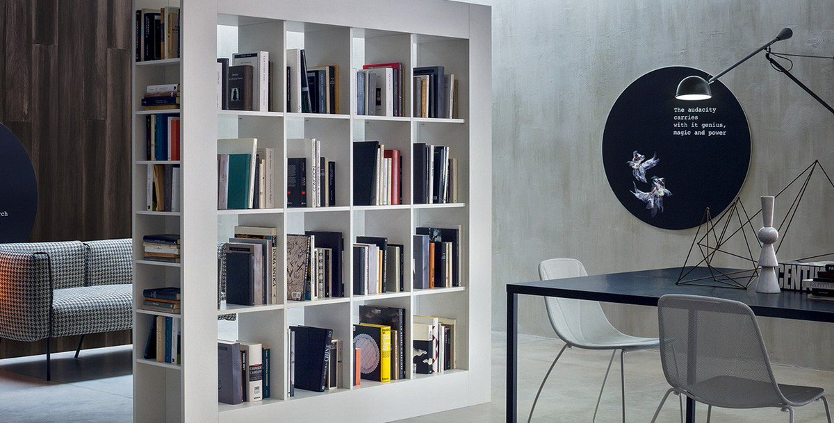 The Double Sided, Freestanding #Frame Bookcase Comes With Two, Three Or  Four Columns. To Optimize The Storage Space, Open Shelving Is Built Into  Both Of The ...