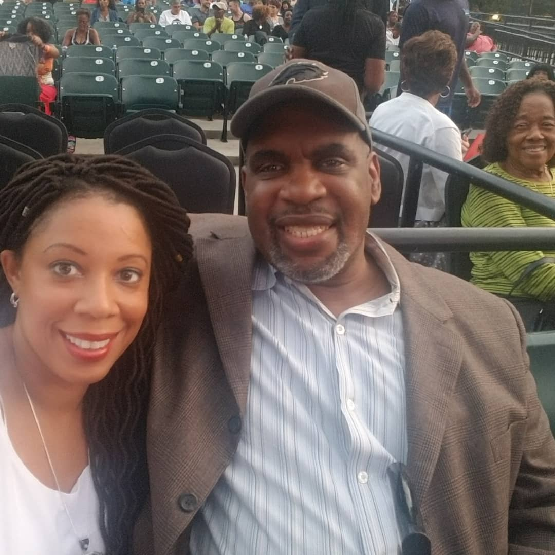#DateNight on a school night... Hubby surprised me with tix to see my fave @GregoryPorter and @MsPattiPatti! #ThatsHowWeRoll #EndOfSummer #LionsSong #TakeMeToTheAlley #OnMyOwn #NewAttitude  #DellMusicCenter  – at Dell Music Center