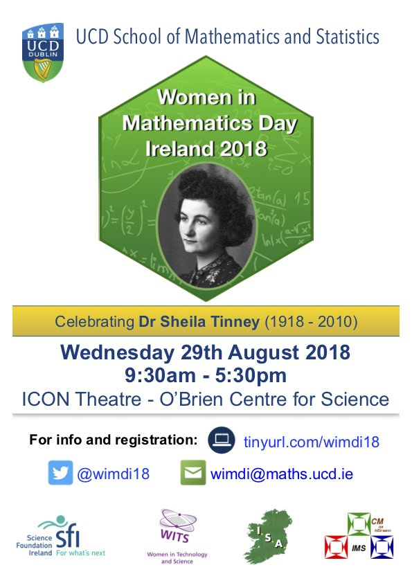 Women In Mathematics Day Ireland 2018 Wimdi18 Twitter