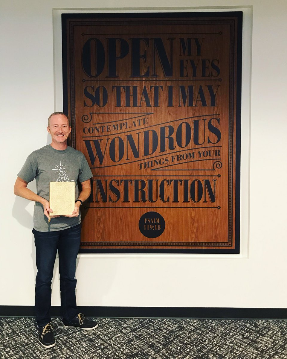 "test Twitter Media - We are so proud that one of our Coordinators, Kyle Cravens, won the company-wide ""Root Everything in Scripture"" Value Award. He is so deserving of this award (check out that golden Bible)! Kyle has been with FUGE for over 20 years, and we are grateful to have Kyle on our team! https://t.co/q8nMfmgFnc"