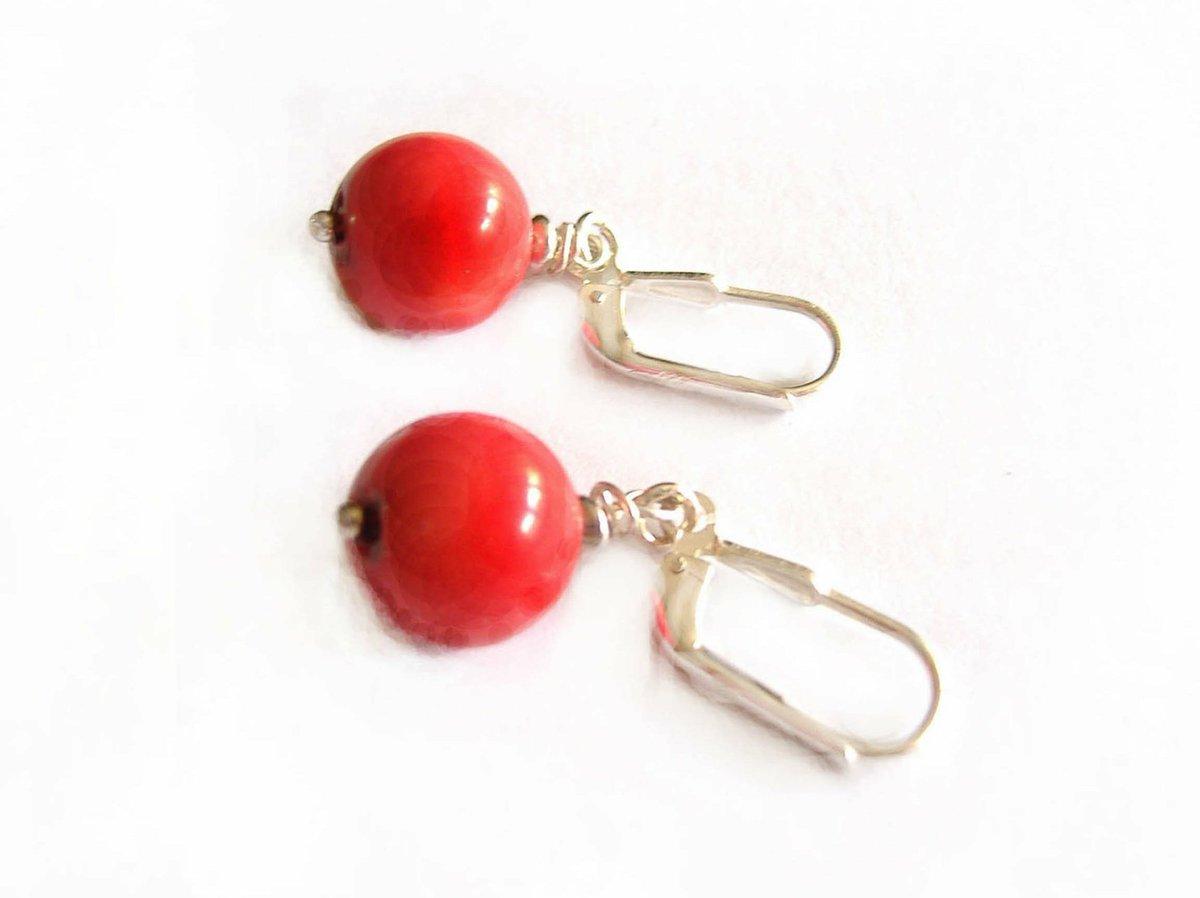 bdf41fccb467 mi tienda de  etsy  Pendientes rojo coral con plata 925  joyeria    pendientes  rojo  bohoyhippy  plata https   t.co 9A7p6Tmymc… https   t  .co UkbfcsBt4M