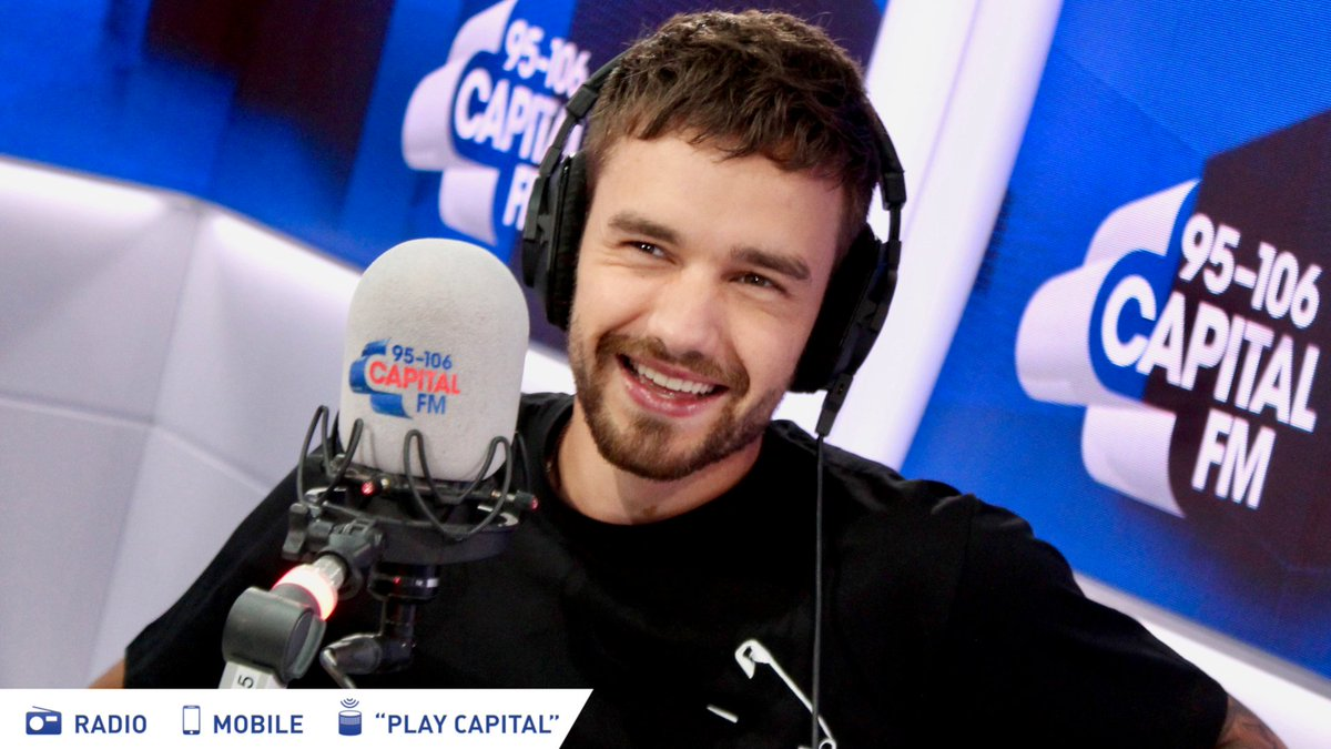 THAT FACE THO. 😘 @LiamPayne has swung by to drop his slick new music. 💿 Youre welcome... capitalfm.co/ListenNow