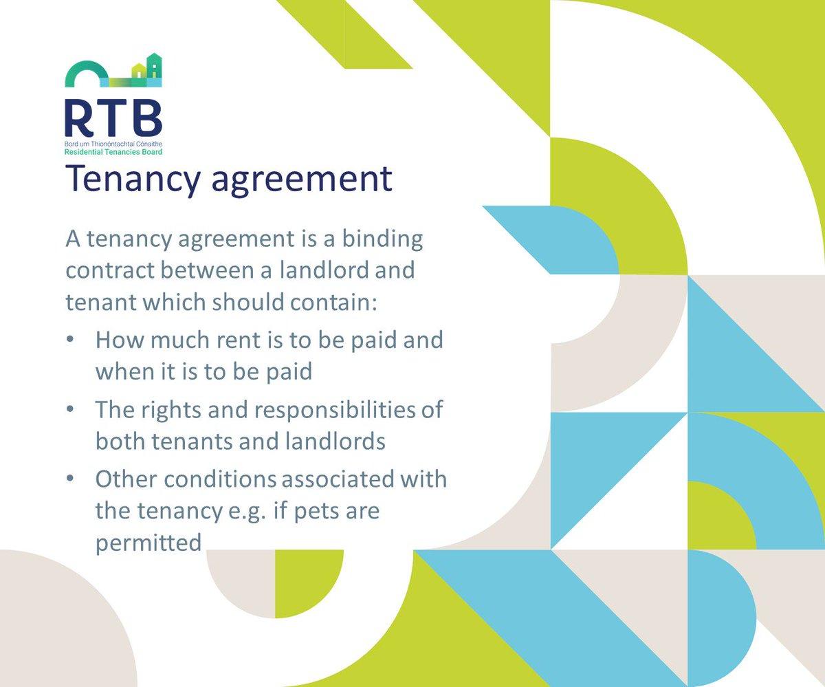 Residential Tenancies Board On Twitter A Tenancy Agreement Is An