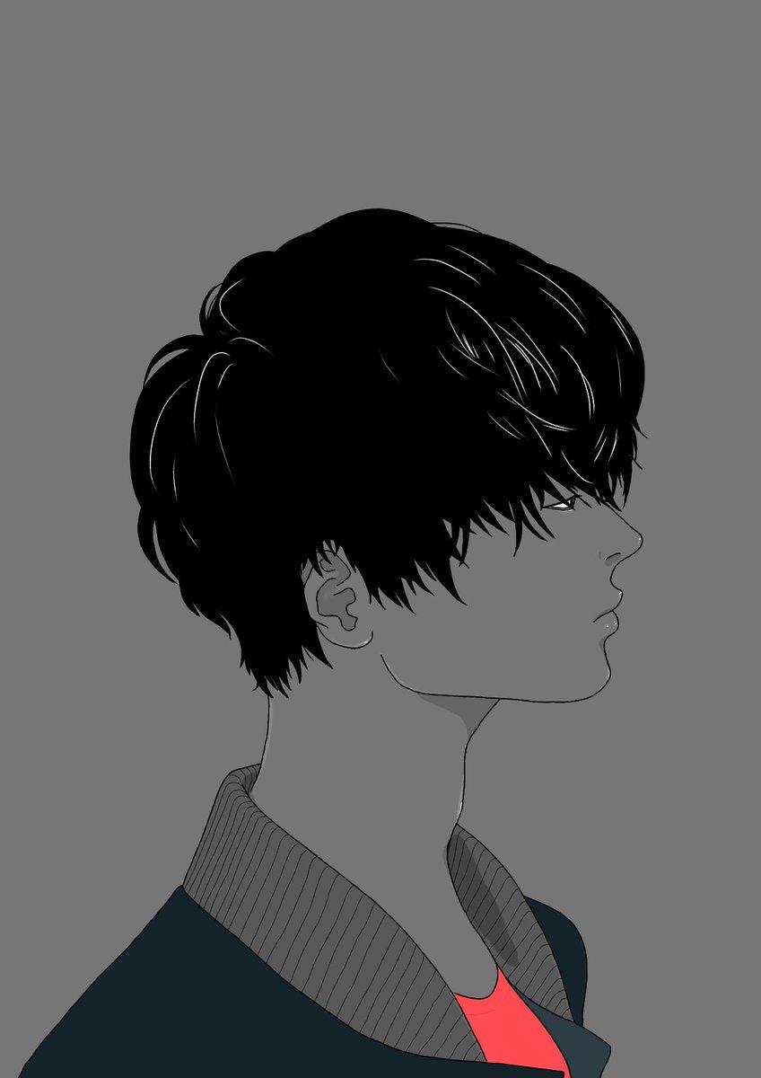 Zozoz On Twitter 男性 横顔 髪型 黒髪 ヘアスタイル男性