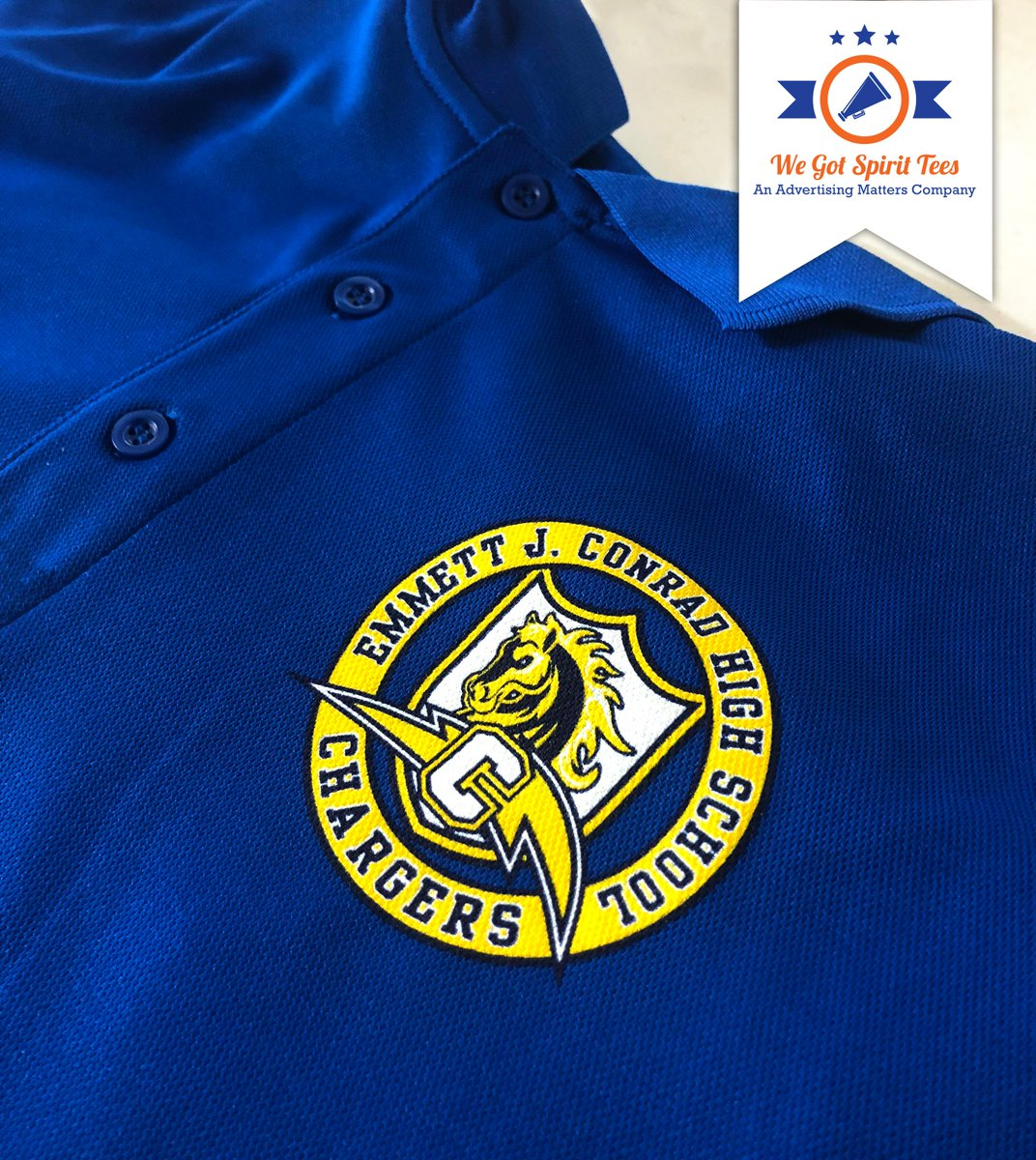 Yes! We can screen print on a polo shirt. At Advertising Matters, we can print on several types of shirts to your need.  For more information call or email us today!  Information is available in bio.  #WeGotSpiritTees https://t.co/4zM04HUFjT