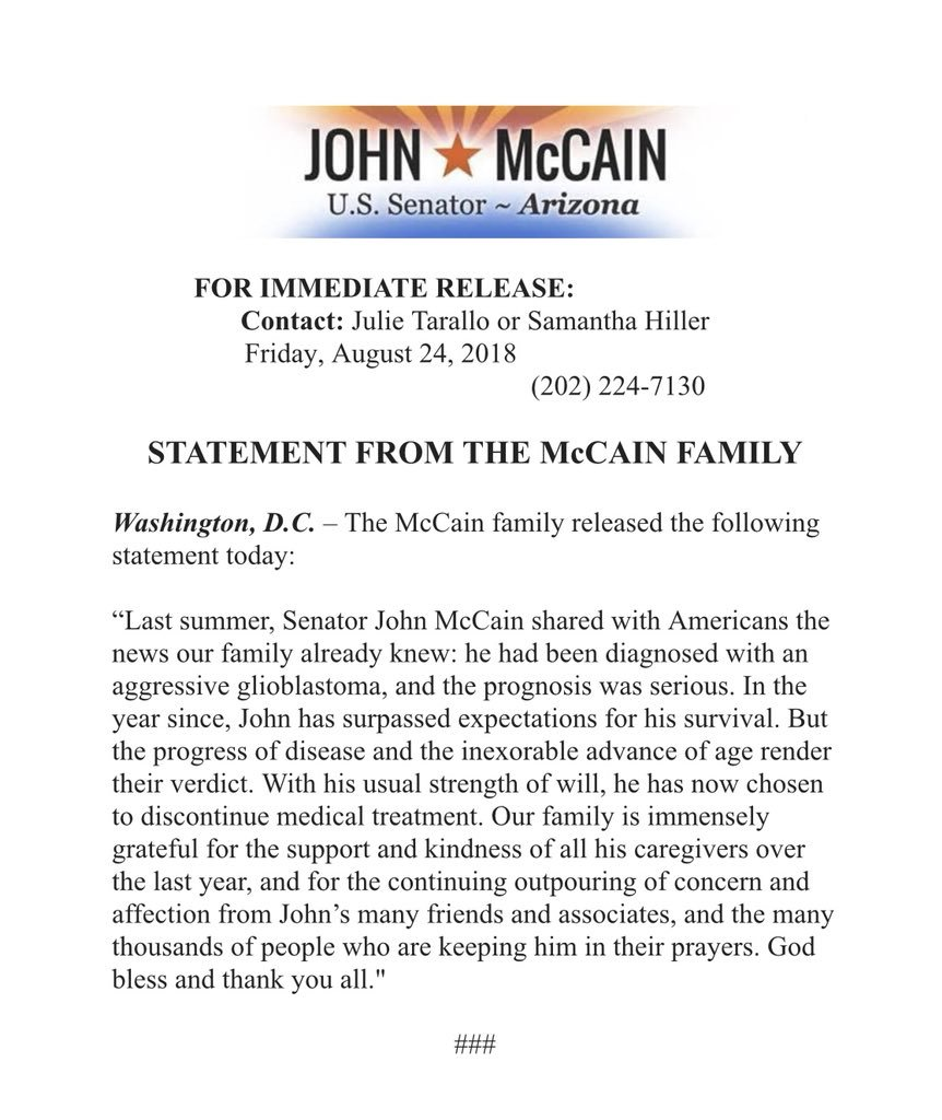 "Meghan McCain On Twitter: ""My Family Is Deeply"