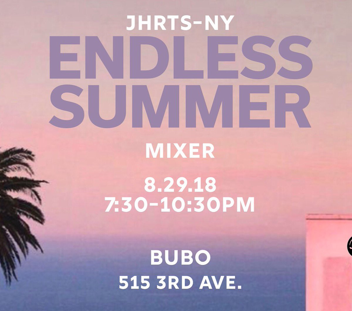 Come join us next Wednesday 8/29 for our August Monthly Mixer!!! Help us keep summer going 😊 #JHRTS #monthlymixer