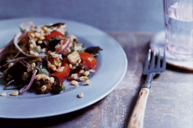 A unique and satisfying blend of flavors . . . Mediterranean Eggplant and Barley Salad: https://t.co/2ikflrcYDO https://t.co/Kx0viQyTGC